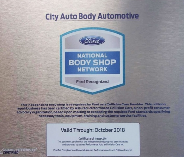 Ford Recognized Collision Care Provider