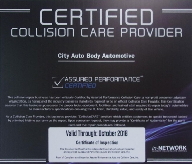 Assured Performance Certified Collision Care Provider