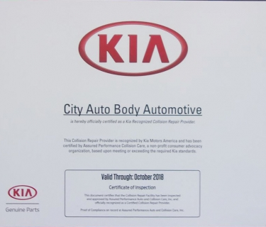 KIA  Recognized  Collision Repair Provider
